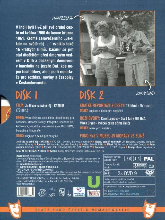 64b16985f5 Je-li kde na světě ráj - KAŠMÍR (2 DVD)