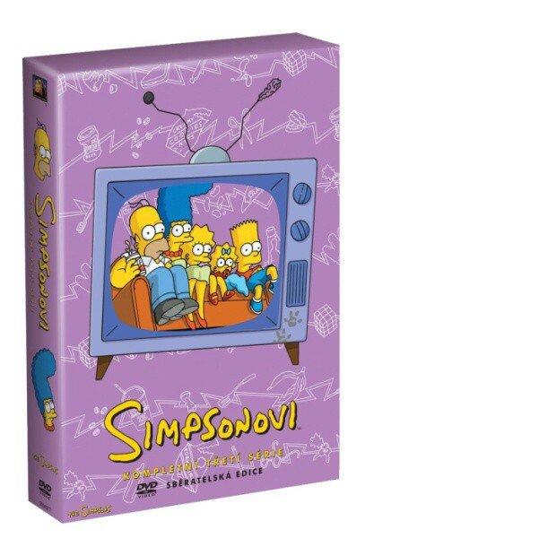 Simpsonovi 3. sezóna 4xDVD (24 dílů)