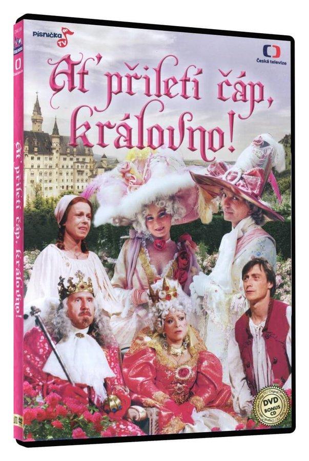 Ať přiletí čáp, královno! (DVD) + bonusové CD s písničkami z pohádky