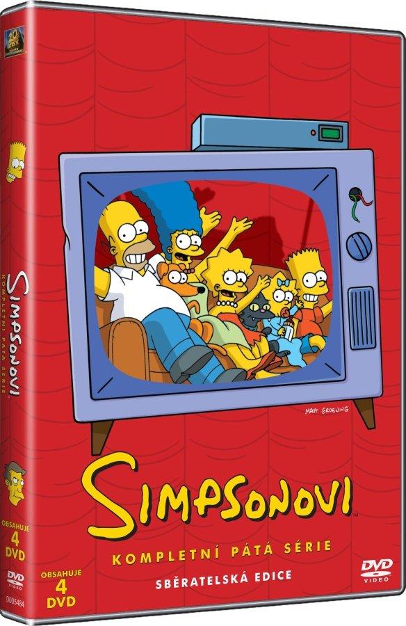 Simpsonovi 5. sezóna 4xDVD (22 dílů)
