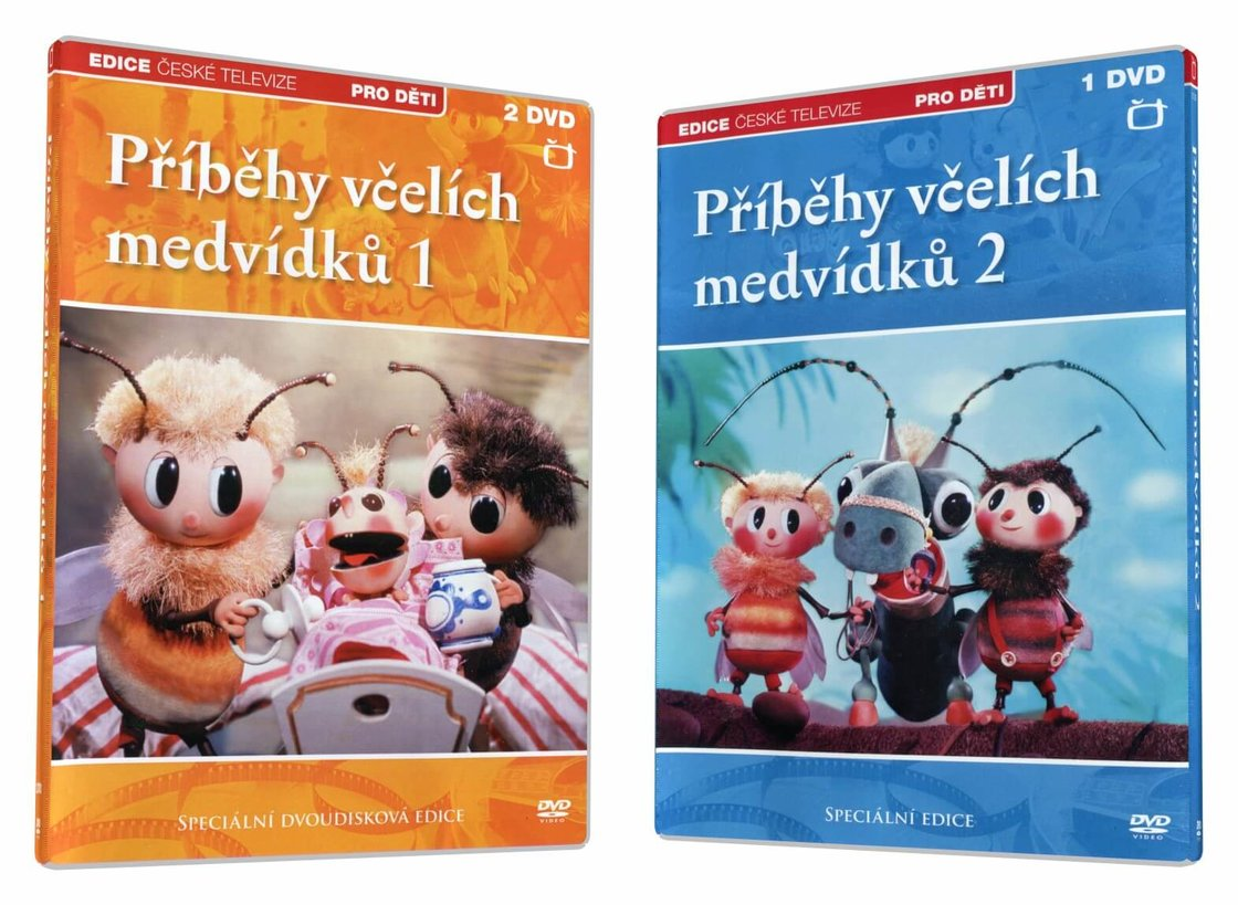 Příběhy včelích medvídků 1+2 KOMPLET (20 dílů) - 3xDVD