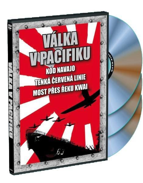 Válka v Pacifiku: Kód Navajo + Tenká červená linie + Most přes řeku Kwai - 3xDVD