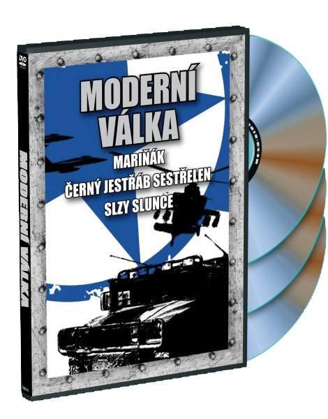 Moderní válka: Mariňák + Černý jestřáb sestřelen + Slzy slunce - 3xDVD