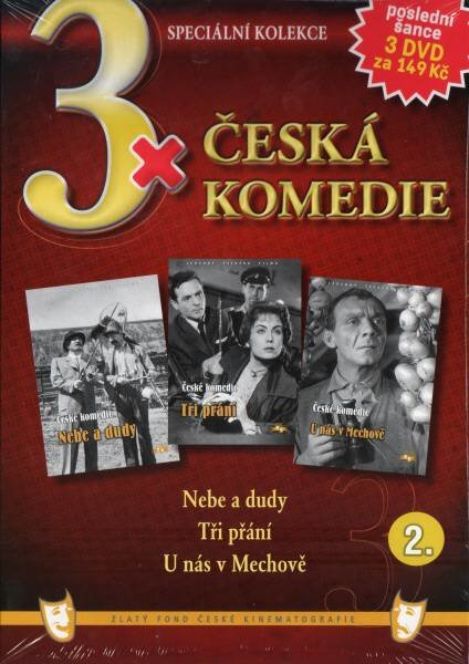 3x Česká komedie 2 (Nebe a dudy / Tři přání / U nás v Mechově) - 3xDVD