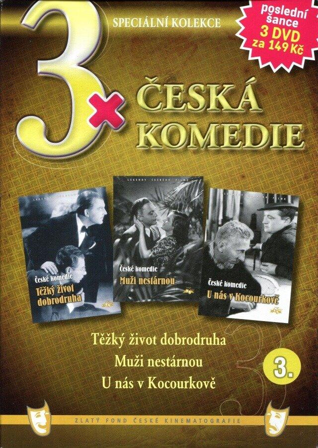 3xČeská komedie 3 (Těžký život dobrodruha / Muži nestárnou / U nás v Kocourkově) - 3DVD