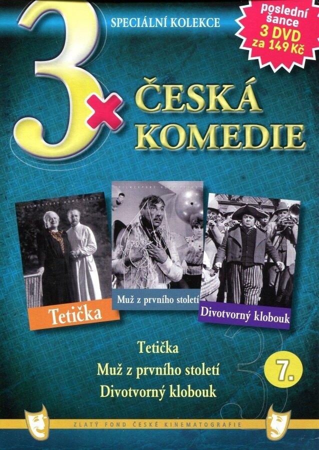 3xČeská komedie 7 (Tetička / Muž z prvního století / Divotvorný klobouk) - 3DVD