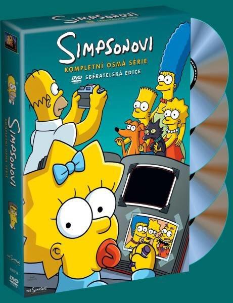 Simpsonovi 8. sezóna 4xDVD (25 dílů)