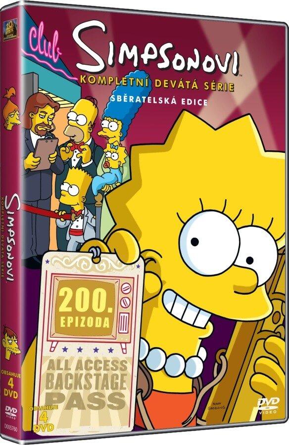 Simpsonovi 9. sezóna 4xDVD (25 dílů)