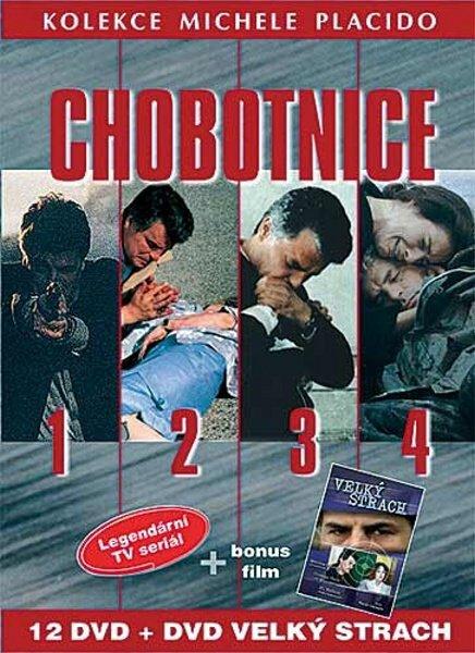 Michele Placido kolekce (Chobotnice 1-4. sezóna + FILM Velký Strach (DVD) - 13xDVD (papírový obal)
