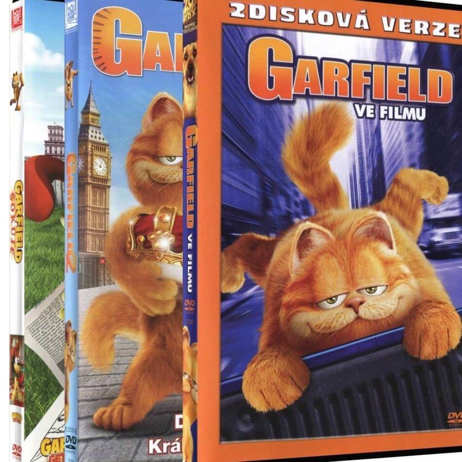 Garfield 1+2+3 - kolekce - 3xDVD