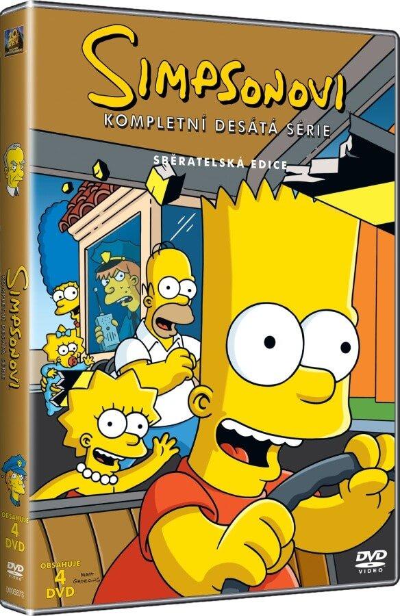 Simpsonovi 10. sezóna 4xDVD (23 dílů)