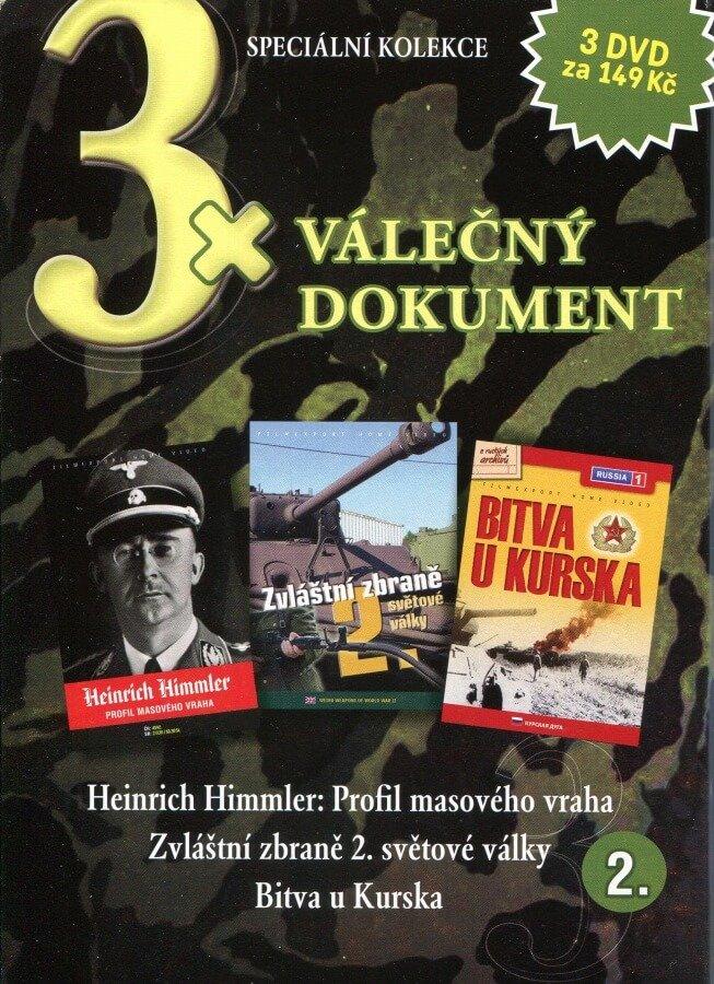 3xVálečný dokument 2 (Heinrich Himmler,Zvláštní zbraně 2. světové války,Bitva u Kurska) kolekce 3DVD