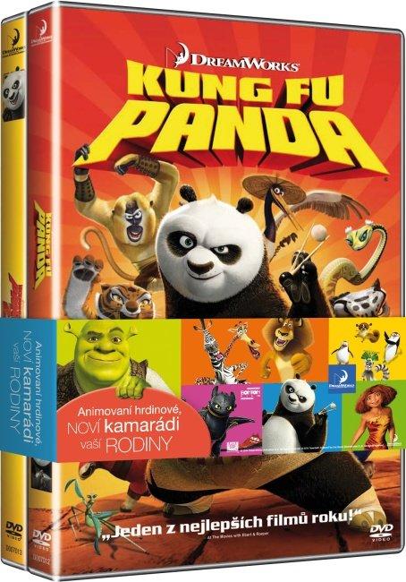 Kung Fu Panda kolekce 1+2 (2xDVD)