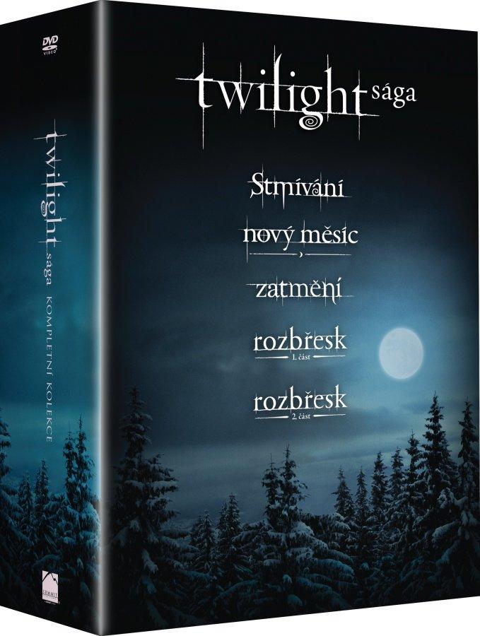 Twilight sága kompletní kolekce (5xDVD)