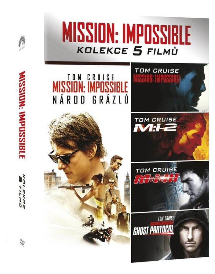Mission: Impossible kolekce 1-5 (5 DVD)