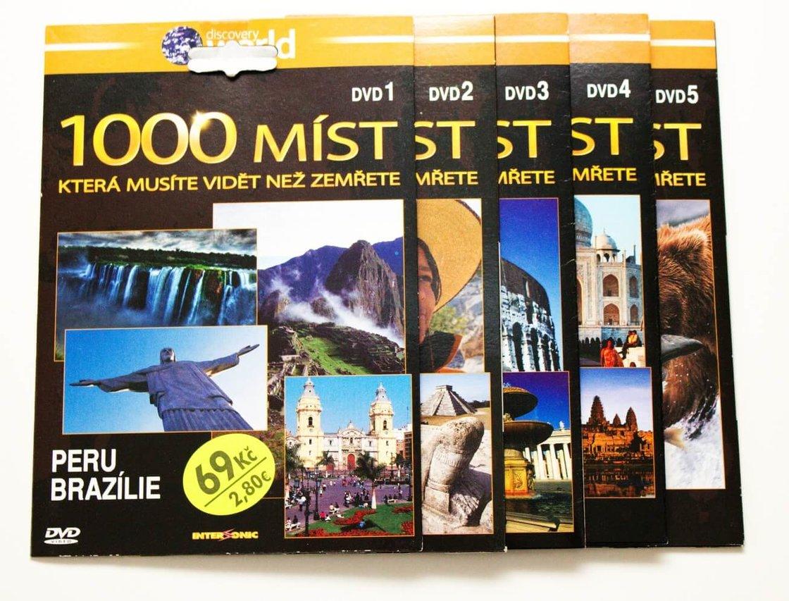 1000 míst, která musíte vidět než zemřete - 1-5 - kolekce - 5 DVD (papírový obal)