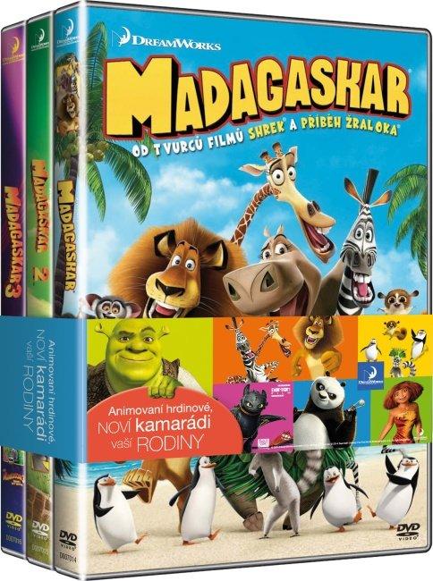 Madagaskar - kolekce - 1+2+3 - 3xDVD
