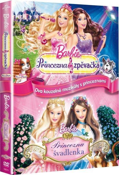 Barbie Princezna & zpěvačka, Barbie princezna a švadlenka - kolekce - 2xDVD