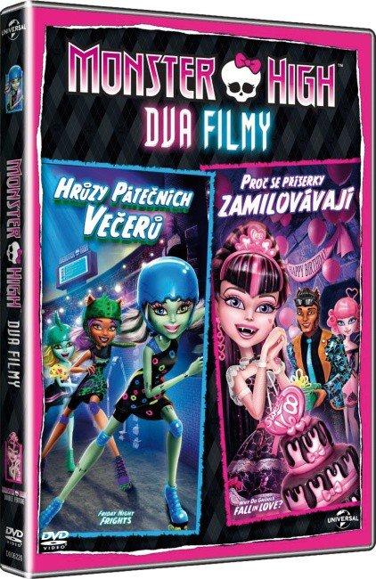 Monster High - Dva filmy: Hrůzy pátečních večerů a Proč se příšerky zamilovávají (DVD)