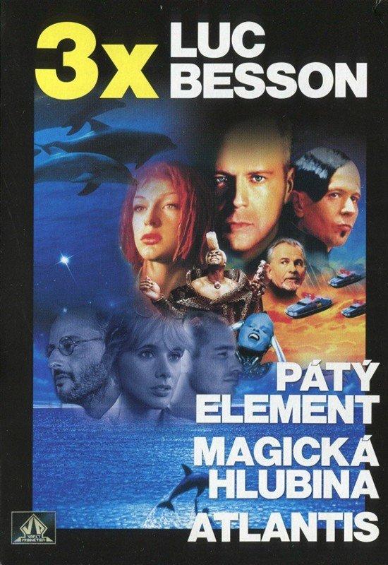 Luc Besson - kolekce 2 (Atlantis, Magická hlubina, Pátý element) - 3 DVD