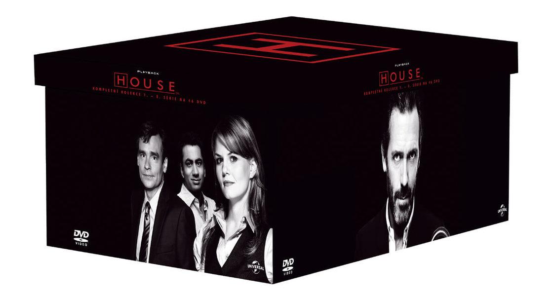 Dr. House KOMPLET - 1-8. sezóna (46xDVD) (tv seriál)