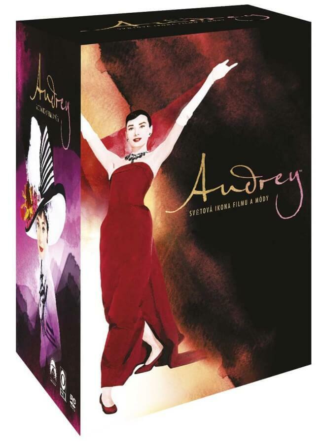 Audrey - světová ikona filmu a módy - kolekce - 9xDVD