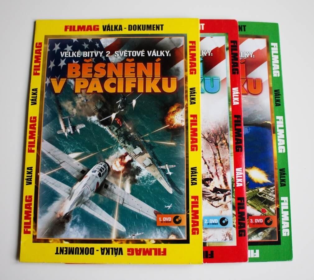 Velké bitvy 2. světové války: Běsnění v Pacifiku 1-3 - kolekce (3 DVD) (papírový obal)