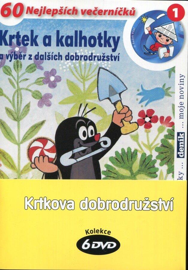 Krtkova dobrodružství - kolekce 1-5+Krtek a kalhotky (6xDVD) (papírový obal)
