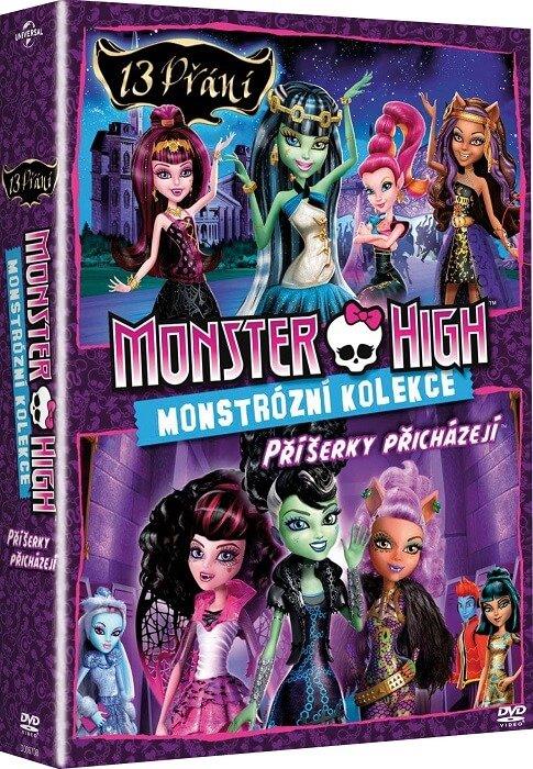 Monster High - kolekce (13 přání, Příšerky přicházejí) (2 DVD)