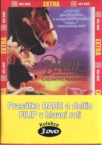 Prasátko Babe a delfín Filip v hlavní roli - kolekce 3 DVD (papírový obal)