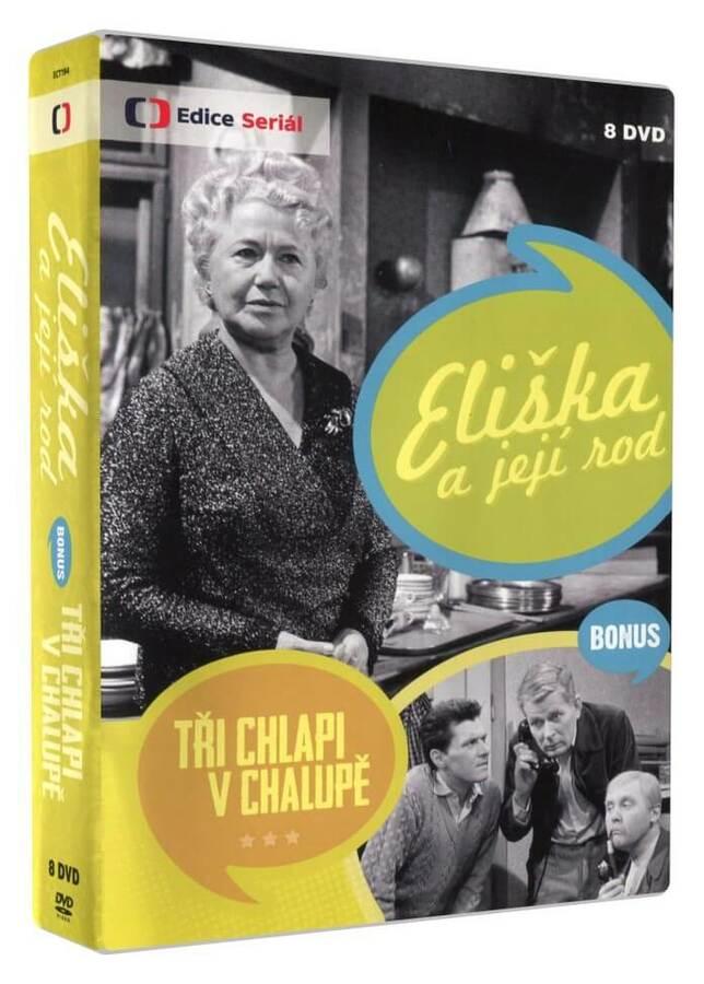 Eliška a její rod - 8xDVD - kompletní seriál + Bonus: Tři chlapi v chalupě