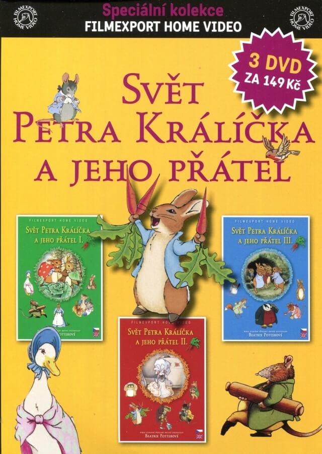Svět Petra Králíčka a jeho přátel kolekce 1-3 - 3DVD (papírový obal)