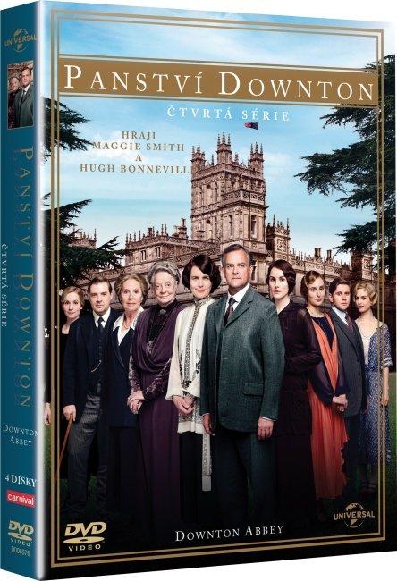 Panství Downton - 4. série (4xDVD) - 8 dílů + Vánoční speciální díl