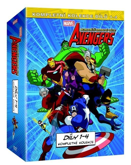 The Avengers: Nejmocnější hrdinové světa kolekce 1.-4. - 4xDVD