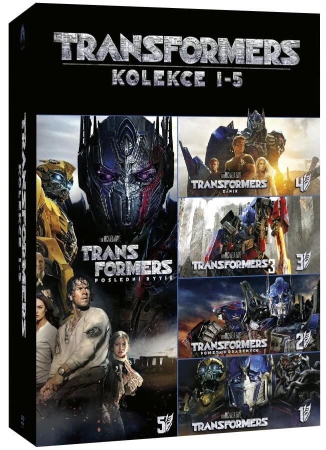 Transformers kolekce 1-5 (5 DVD)