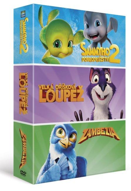 Animáky kolekce (Sammyho dobrodružství 2, Velká oříšková loupež, Zambezia) (3 DVD)