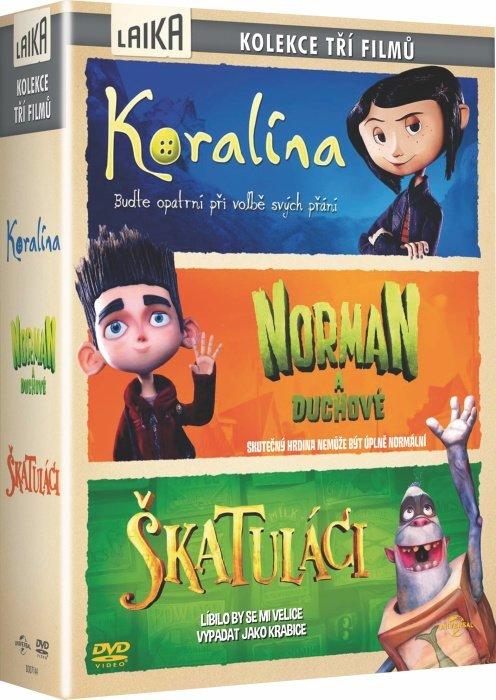 Kolekce 3 filmů společnosti Laika (3 DVD)