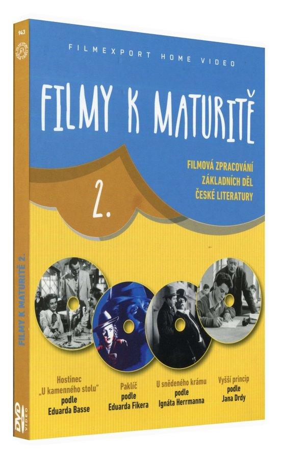 Filmy k maturitě 2 (Hostinec U kamenného stolu,U snědeného krámu,Paklíč,Vyšší princip) kolekce 4DVD
