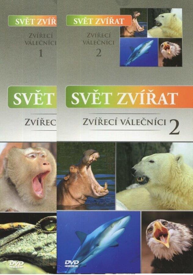 Svět zvířat - Zvířecí válečníci 1-2 - kolekce - 2xDVD (papírový obal)