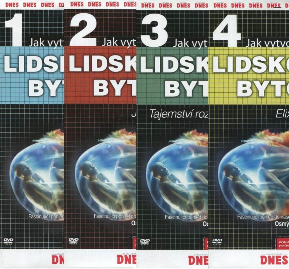 Jak vytvořit lidskou bytost 1-4 - kolekce - 4xDVD (papírový obal)