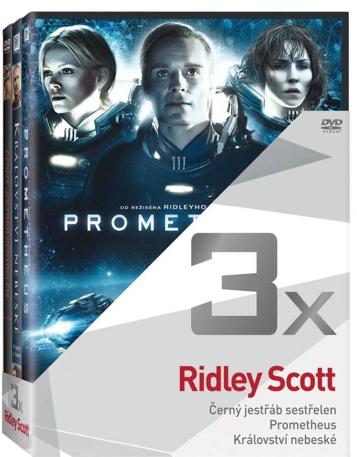 3x Ridley Scott (Černý jestřáb sestřelen, Prometheus, Království nebeské) - kolekce (3xDVD)