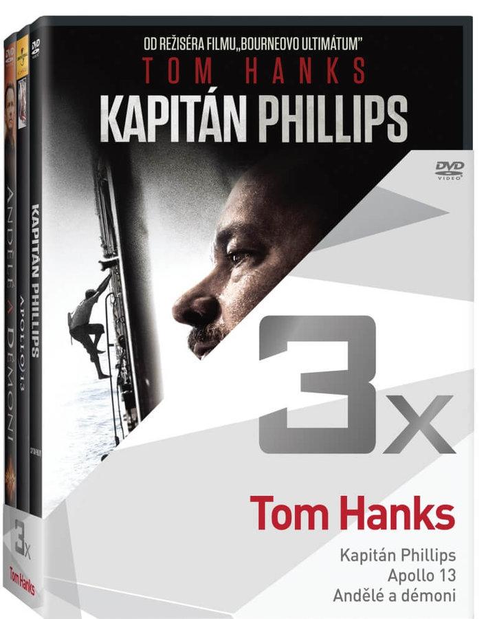 3x Tom Hanks (Kapitán Phillips, Apollo 13, Andělé a démoni) - kolekce (3xDVD)