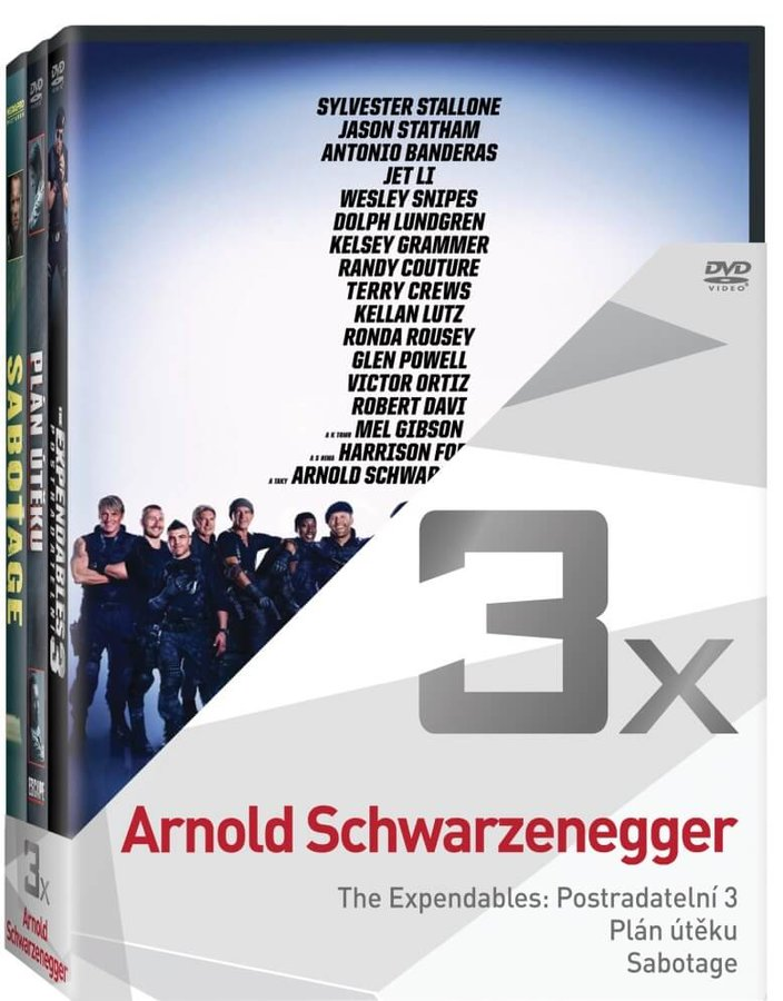3x Arnold Schwarzenegger - kolekce (3xDVD)