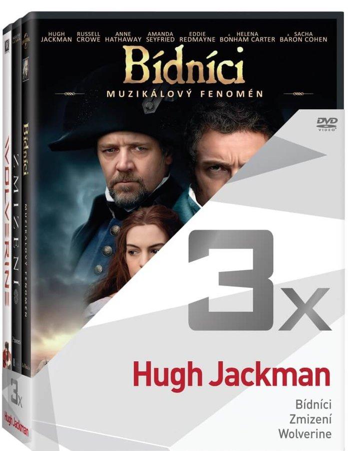 3x Hugh Jackman (Bídníci, Zmizení, Wolverine) - kolekce (3xDVD)