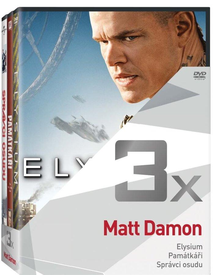 3x Matt Damon (Elysium, Památkáři, Správci osudu) - kolekce (3xDVD)