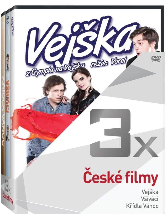 3x České filmy (Vejška, Všiváci, Křídla vánoc) - kolekce (3xDVD)