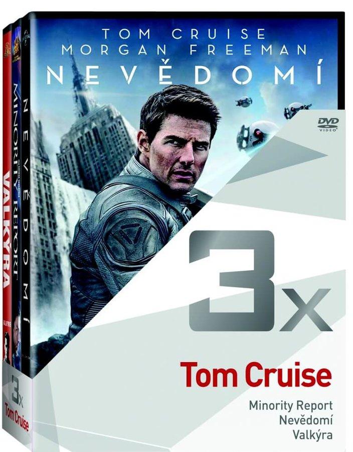 3x Tom Cruise (Minority report, Nevědomí, Valkýra) - kolekce (3xDVD)