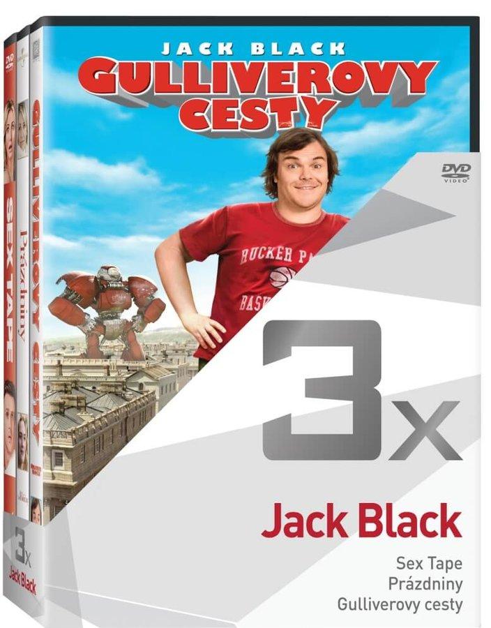 3x Jack Black (Sex Tape, Prázdniny, Gulliverovy cesty) - kolekce (3xDVD)