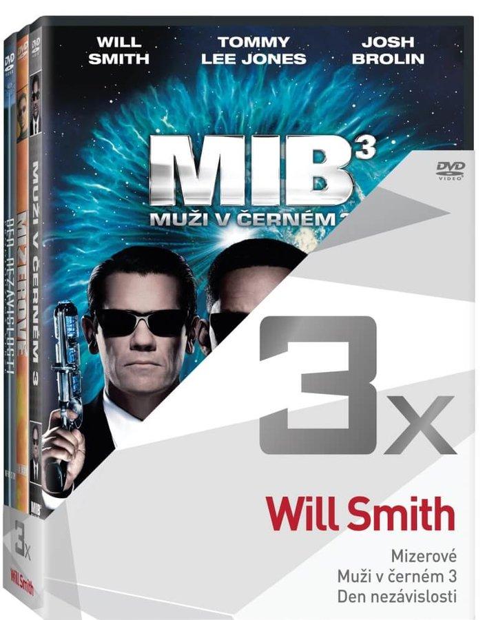 3x Will Smith (Mizerové, Muži v černém 3, Den nezávislosti) - kolekce (3 DVD)