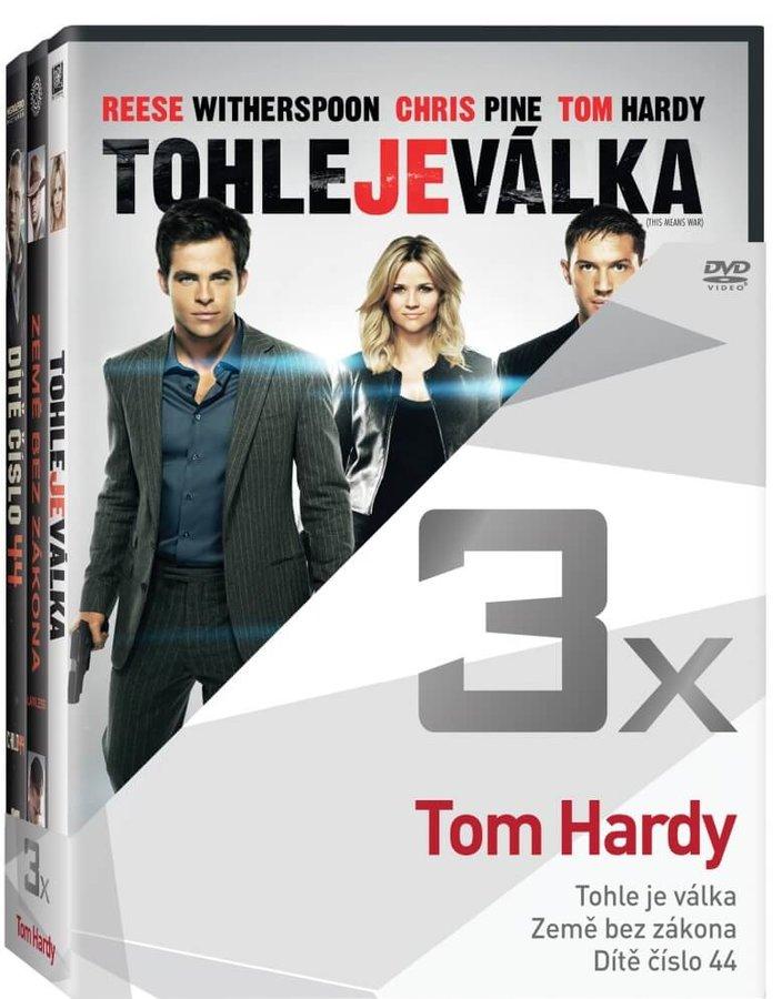 3x Tom Hardy (Tohle je válka, Země bez zákona, Dítě číslo 44) - kolekce (3xDVD)